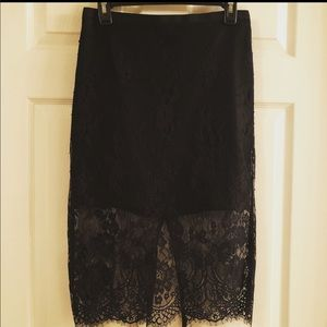 TOPSHOP black lace skirt